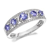Women's Jewellery 9ct White Gold Tanzanite And Diamond Ring - 20pts - D6351-O