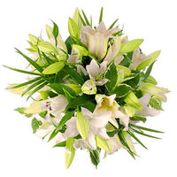 Flowers  - White Lily Bouquet - flowers