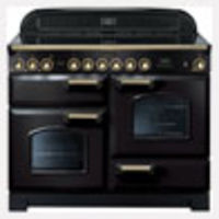 Cookers & Ovens  - Rangemaster Classic Deluxe 110 Electric Ceramic range cookers  in Black / Brass