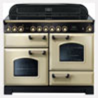 Cookers & Ovens  - Rangemaster Classic Deluxe 110 Electric Ceramic range cookers  in Cream / Brass