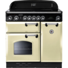 Cookers & Ovens Rangemaster Classic 90 Ceramic - 68370 Electric Range Cooker in Cream with Chrome Trim