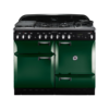 Rangemaster Elan 110cm Dual Fuel 73230 Range Cooker in Racing Green with FSD Hob
