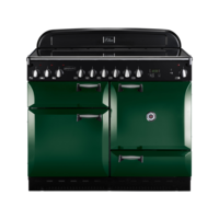 Rangemaster Elan 110cm Electric Ceramic 74710 Range Cooker in Racing Green with Ceramic Hob