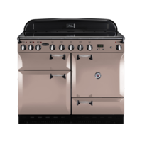 Rangemaster Elan 110cm Electric Induction 89540 Range Cooker in Latte with Induction Hob