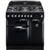 Rangemaster Elan 90cm Dual Fuel 72900 Range Cooker in Black with FSD Hob