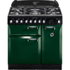 Rangemaster Elan 90cm Dual Fuel 72910 Range Cooker in Racing Green with FSD Hob