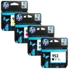 Printer Consumables 1 Full Set HP 953 Black and 1 Colour Set 953 C/M/Y Original Standard Capacity Ink Cartridges (4 Pack)