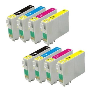 Printer Consumables  - Compatible Multipack Epson WorkForce WF-7015 Printer Ink Cartridges (8 Pack) -C13T12914010