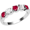 Women's Jewellery An elegant five stone ruby & diamond eternity ring in 9ct white gold