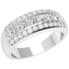 Women's Jewellery An eye-catching Princess & Round Brilliant Cut diamond ring in 18ct white gold