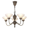Dark Bronze Pendant Ceiling Lamp Fitting with Acid Glass Shades