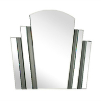 Lighting  - Fan Style Wall Mirror with Grey Strips