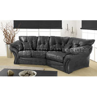 Lighting  - Modern Graphite Snuggle Sofa Settee with Faux Leather Snake Skin Effect