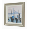 Venice Gondolas Picture with Silver Frame Handmade in the UK