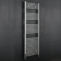 Heating & Cooling  - Kudox - Premium Chrome Curved Heated Bathroom Towel Radiator Rail 1800mm x 600mm