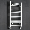 Kudox - Premium Chrome Curved Heated Bathroom Towel Radiator Rail 800mm x 500mm