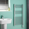 Heating & Cooling Kudox Chrome Flat Thermostatic Electric Towel Rail 1000mm x 500mm