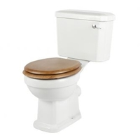 Bathrooms  - Milano Winchester Toilet with Light Oak Moulded Wood Seat