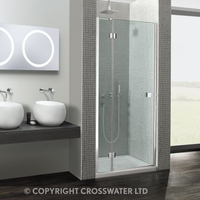 Showers  - Simpsons Design 900mm Semi Frameless Pivot Door