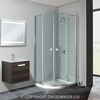 Simpsons Design Double Door Quadrant 1000mm
