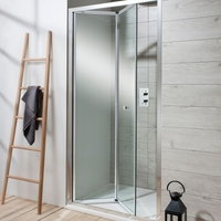 Showers  - Simpsons Edge Bifold Door Silver 700