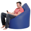 Chairs XXL Adult Bean Bag Chair Faux Leather Blue