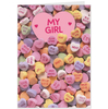 Hallmark Love Hearts Sweets Changeable Recipient Card
