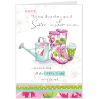 Greeting Cards  - Hallmark Lucy Cromwell Wellingtons Birthday Card