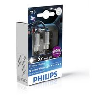 Car Parts  - Philips X-treme Vision LED W5W T10 6000K (Twin)