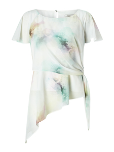 Printed Soft Tie Top
