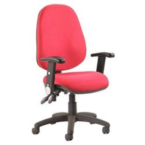 Luna II Lever Task Operator Chair Burgundy With Height Adjust