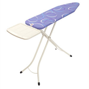 Brabantia Ironing Table 124cm x 38cm With Solid Steam Unit Holder,  Metallic Grey Frame,  Gecko Cover,  Ironing Table 124cm x 38cm