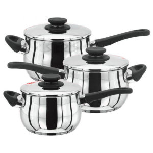 Stellar 4000 3 Piece Deep Saucepan Set