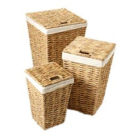 Washer Dryers  - Stow Green Square Hyacinth Linen Basket Medium