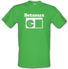 Novelty T-Shirts Betamax male t-shirt.