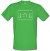 Novelty T-Shirts Football Pitch male t-shirt.