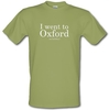 I Went To Oxford (on holiday) male t-shirt.