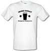 Novelty T-Shirts Irish Today Hungover Tomorrow male t-shirt.