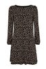 Women's Dresses & Skirts Petite Black Animal Print Swing Dress, Black