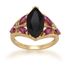 Women's Jewellery Gemondo Gold Plated Silver 2.75ct Spinel, 0.87ct Rhodolite & 1.6pt Diamond Ring