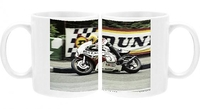 Novelty Gifts  - Joey Dunlop (Yamaha) winning the 1980 Classic TT Photo Mug