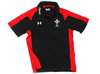 Wales Players Calcutta Media Polo Shirt Black/Red
