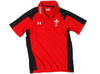 Wales Players Calcutta Media Polo Shirt Red/Black