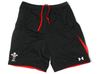 Wales Players Force Woven Rugby Shorts Black/Red