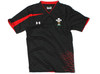 Wales Players Performance Rugby Training T-Shirt Black/Red