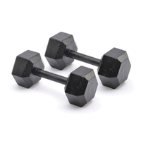 Support Aids  - Adidas 2 x 10kg Hex Dumbbells