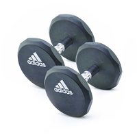 Support Aids  - adidas 2 x 10kg Rubber Dumbbells