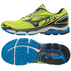 Mizuno Wave Inspire 13 Mens Running Shoes - Yellow/Black,  9.5 UK