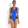 Speedo Fit Splice Muscleback Ladies Swimsuit AW16 - Blue/Black/White,  34""