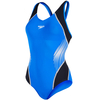 Speedo Fit Splice Muscleback Ladies Swimsuit AW16 - Blue/Black/White,  36""